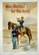 "Vintage War Poster ""Men wanted for the Army."""